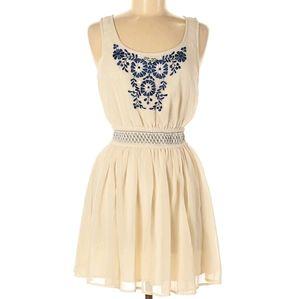 Ecote Cream Boho dress medium UO